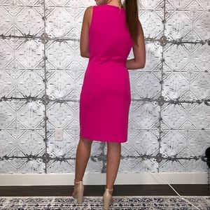 Marina Hot Pink Sheath Dress